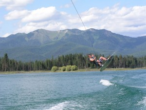 Wakeboarder on Echo Lake
