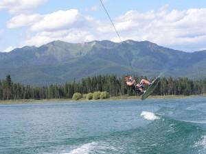 Wakeboarder on Echo Lake
