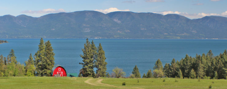 Overlooking Flathead Lake and the Swan Mountain Range - Rollins, MT