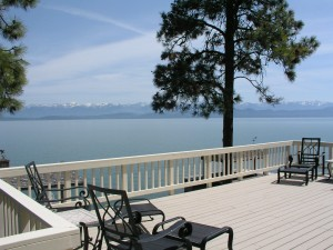 Vast views of Flathead Lake from home in Lakeside, MT. Both the Swan Range and Mission Mountain Range are snowcapped.