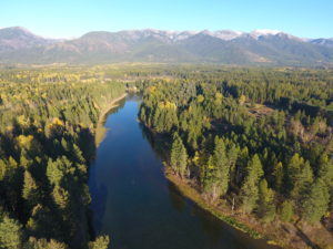 Swan River and Swan Mtn Range-Bigfork, MT