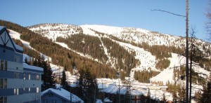 Ski slopes at the Whitefish ski resort