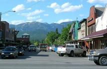 Bustling downtown of Whitefish Montana
