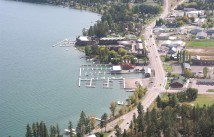 Aerial over Lakeside, Montana