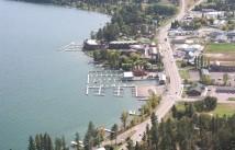 Aerial over Lakeside, Montana