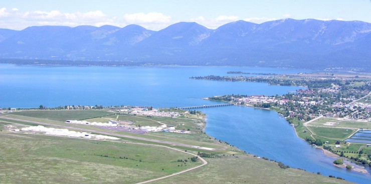 Aerial view of Polson MT