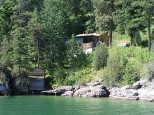 Cabin for sale on White Swan Point on Flathead Lake