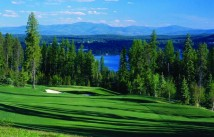 Iron Horse golf course with views of Whitefish Lake