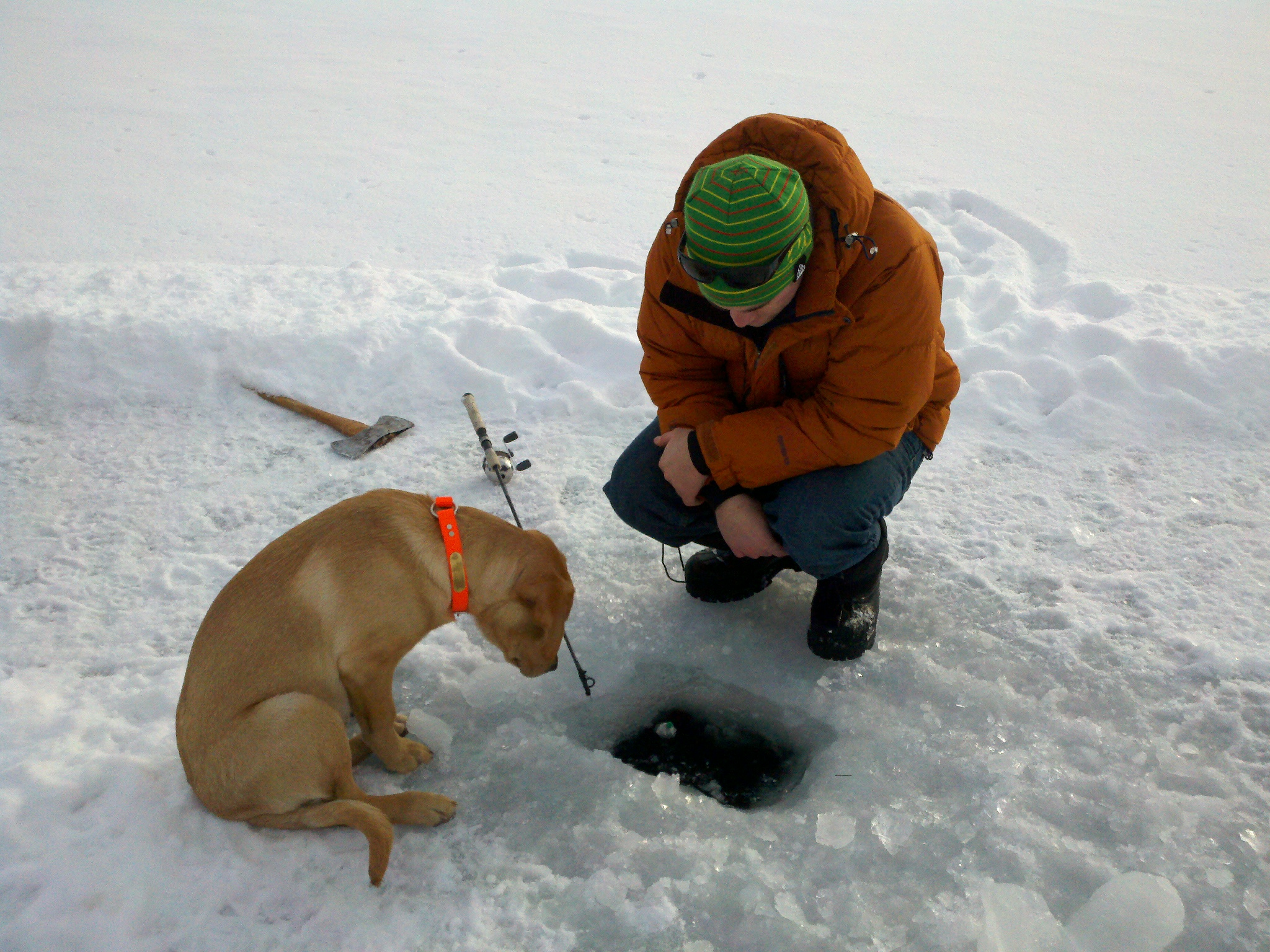 ice fishing echo lake montana