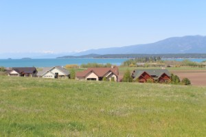 Many vantage points offer huge views of Flathead Lake and mountain range.