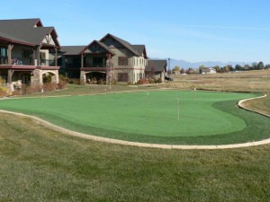 Enjoy playing on the complex putting green!