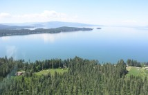 Looking north into Skidoo Bay - Finley Point is seen to the west.