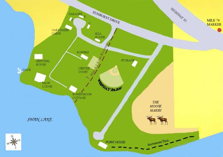 Sentinel Pine map
