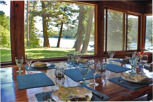 Dining with views over Swan Lake