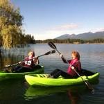 Kellie and sister kayaking